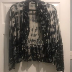 Blue and white tie dye cardigan classy